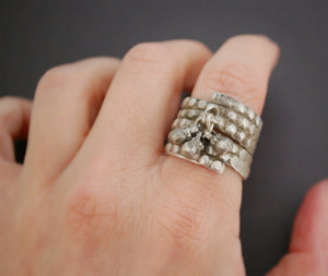 Old Tribal Coil Ring from India - Size 8