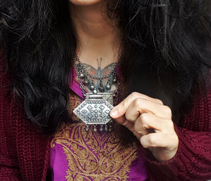 Large Indian Silver Pendant