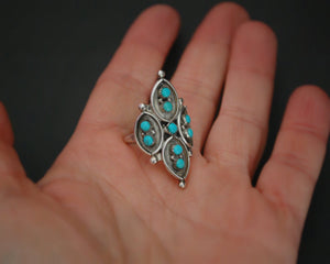 Native American Zuni Turquoise Ring - Size 6