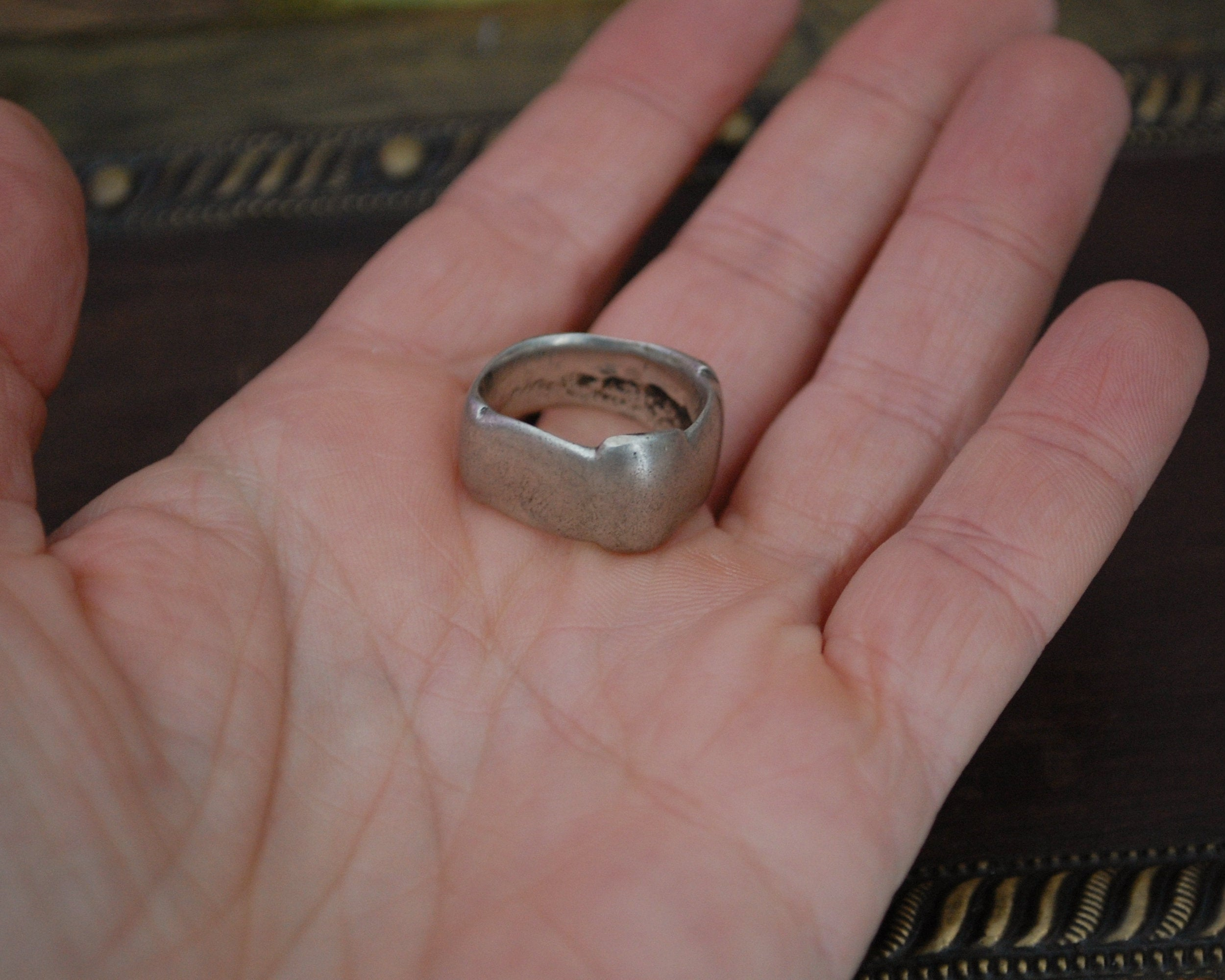 Substantial Old Berber Ring from Morocco - Size 6