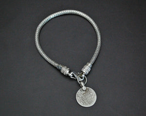 XS Rajasthani Snake Chain Bracelet with Coin