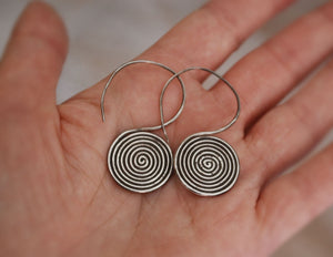 Karen Silver Hill Tribe Earrings