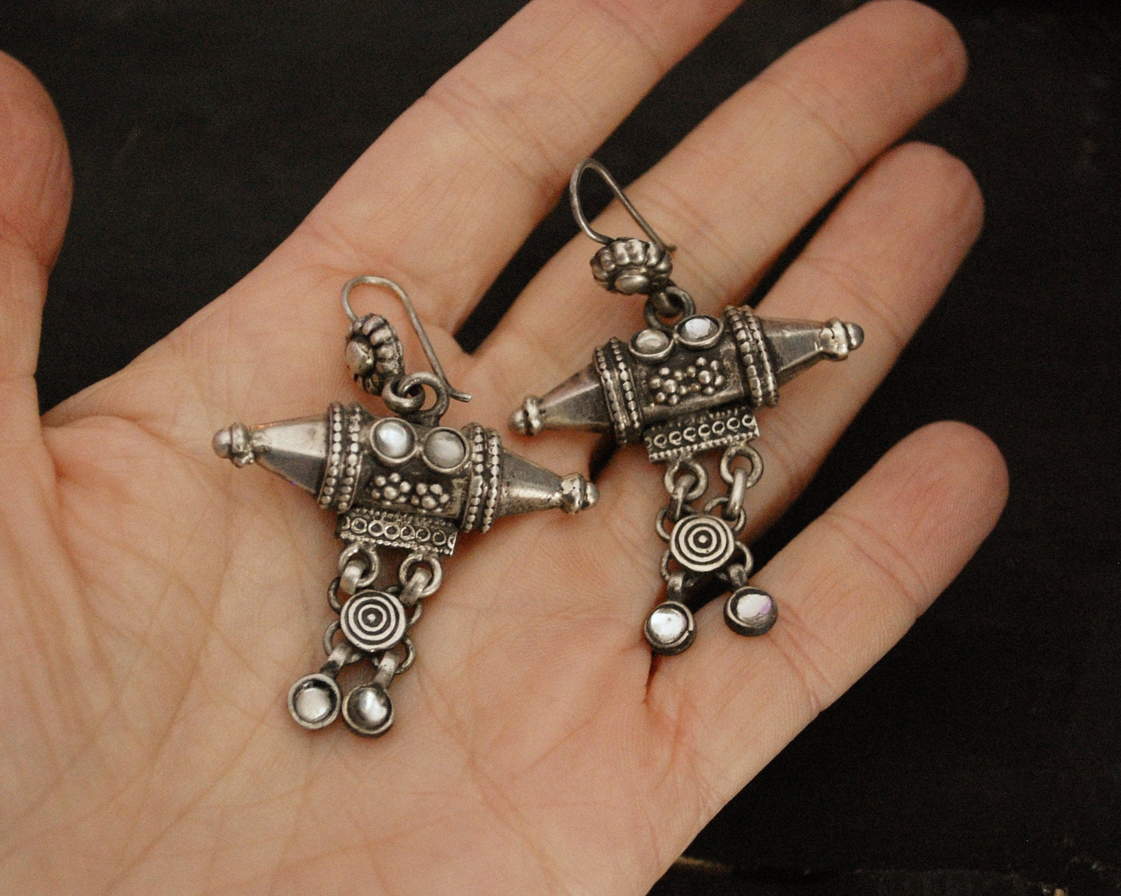 Rajasthani Silver Dangle Earrings