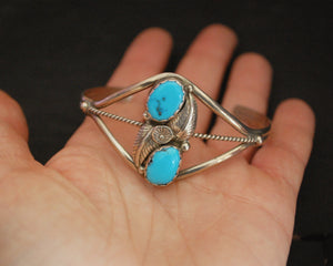 Navajo Turquoise Cuff Bracelet - Signed