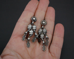 Rajasthani Silver Earrings with Dangles