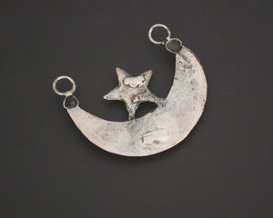 Kurdish Crescent Moon and Star Pendant - Ottoman Jewelry