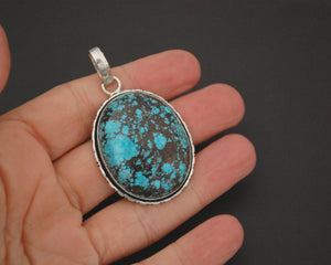 Large Turquoise Pendant from India