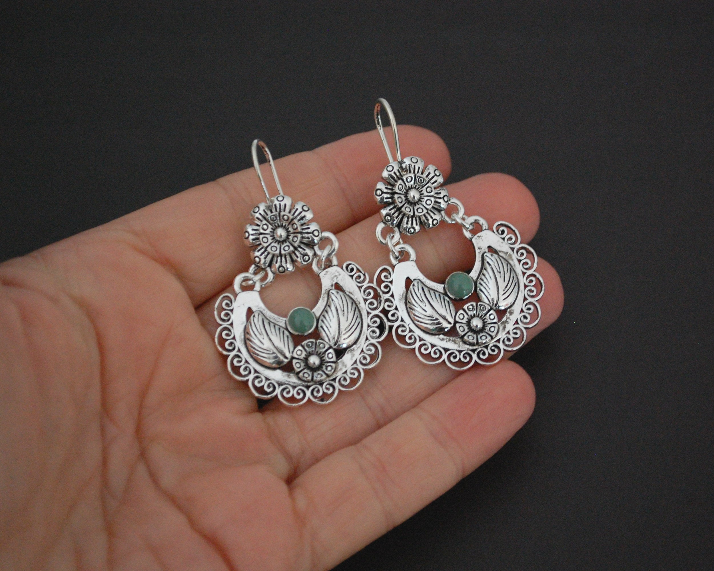Guatemalan Jade Earrings