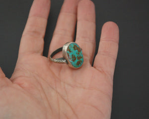 Ethnic Persian Turquoise Ring - Size 7