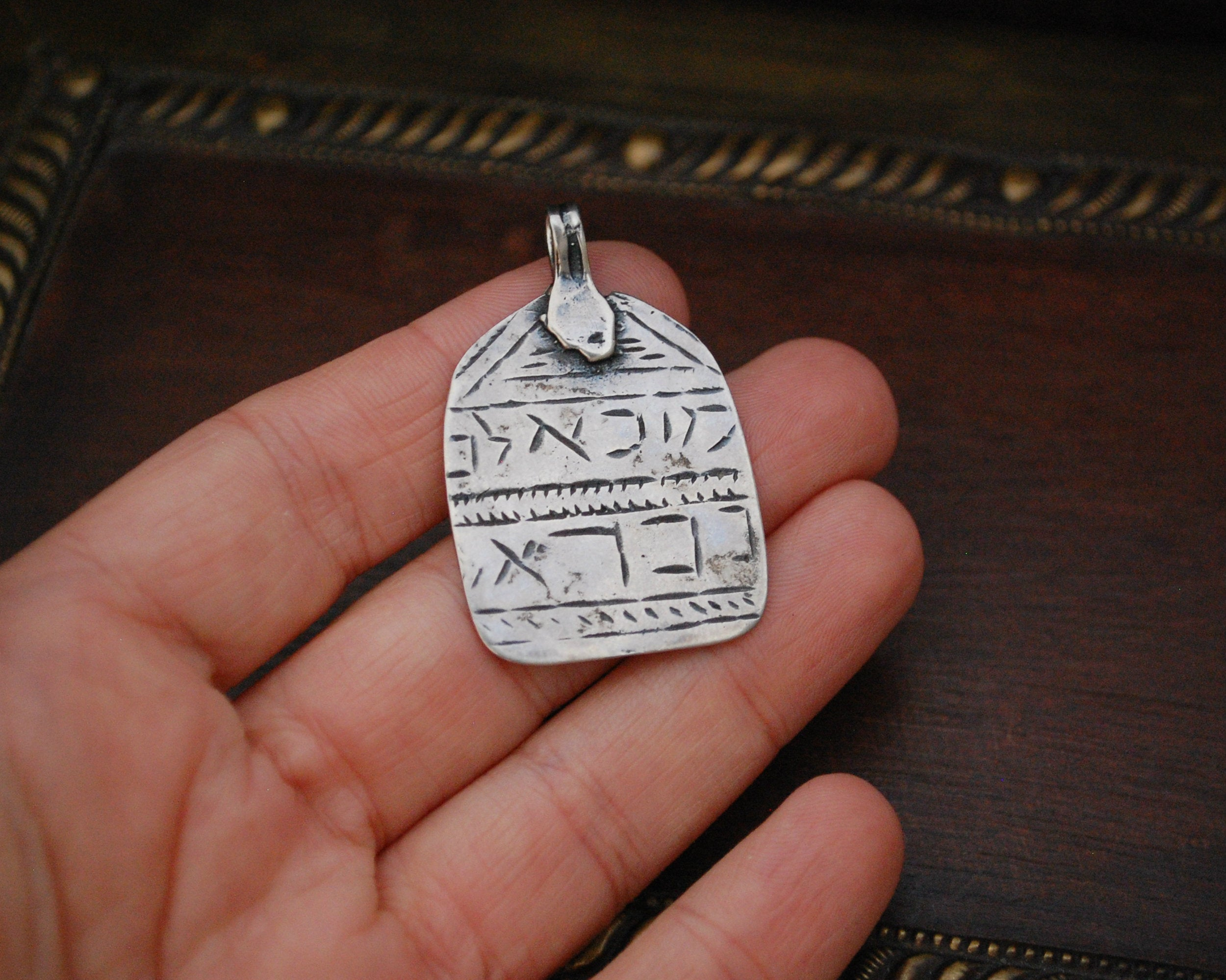 Ethnic Amulet with Hebrew and Aramaic Writing