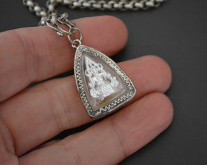 Thai Silver Buddha Pendant on Sterling Chain