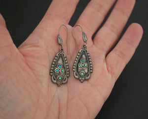 Older Turquoise Earrings from Nepal