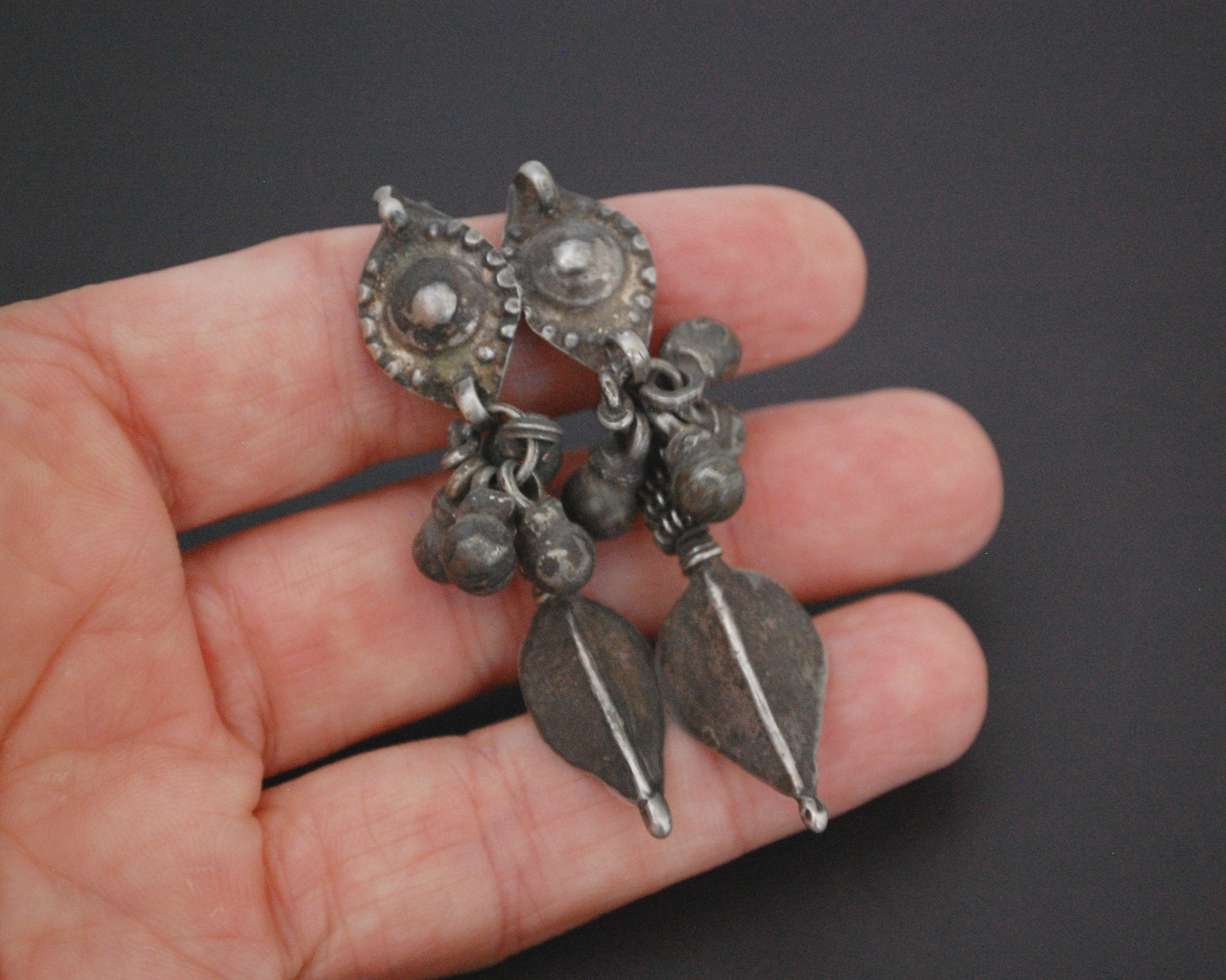Old Rajasthani Silver Earrings