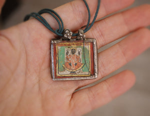 Old Indian Painting Amulet