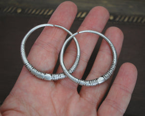 Tribal Afghani Hoop Earrings - LARGE