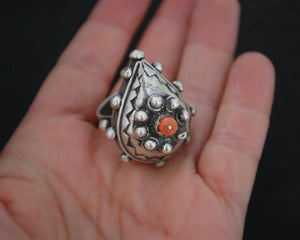 Gorgeous Berber Coral Ring - Size 8