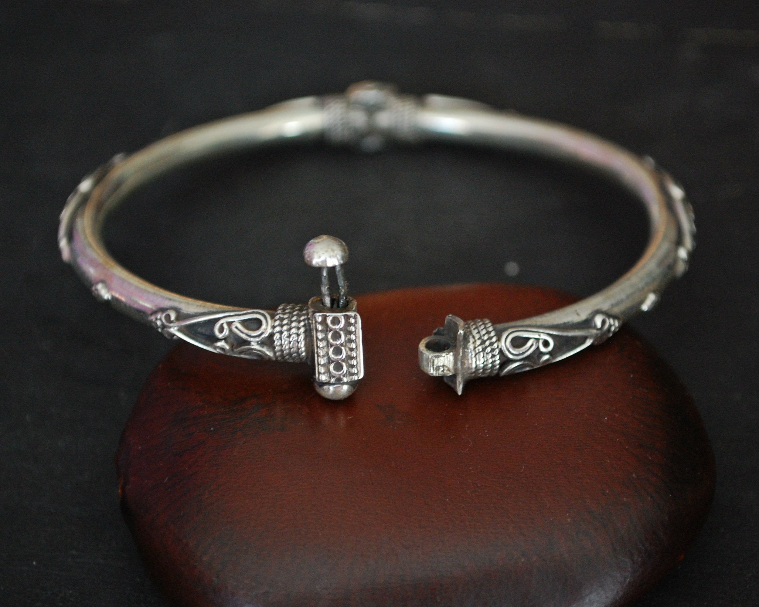 Indian Silver Bracelet with Clasp
