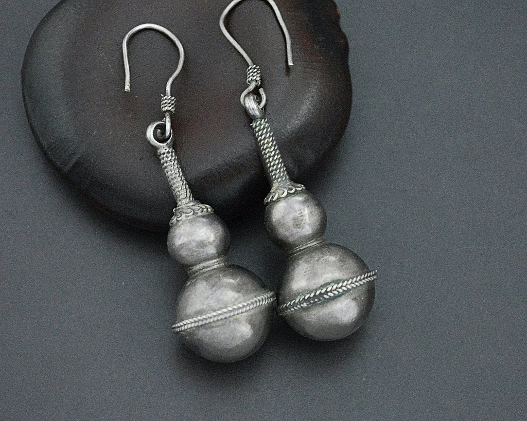 Vintage Silver Indian Dangle Earrings
