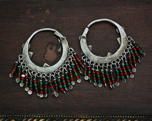 Afghani Hoop Earrings with Tassels