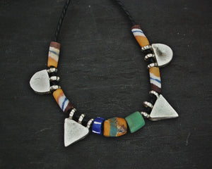 Ethiopian Telsum Necklace with Old Glass Beads