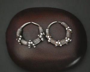 Antique Mauritanian Hoop Earrings - SMALL