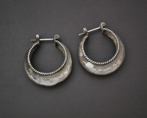 Ethnic Hoop Earrings - MEDIUM - Hollow Shaped