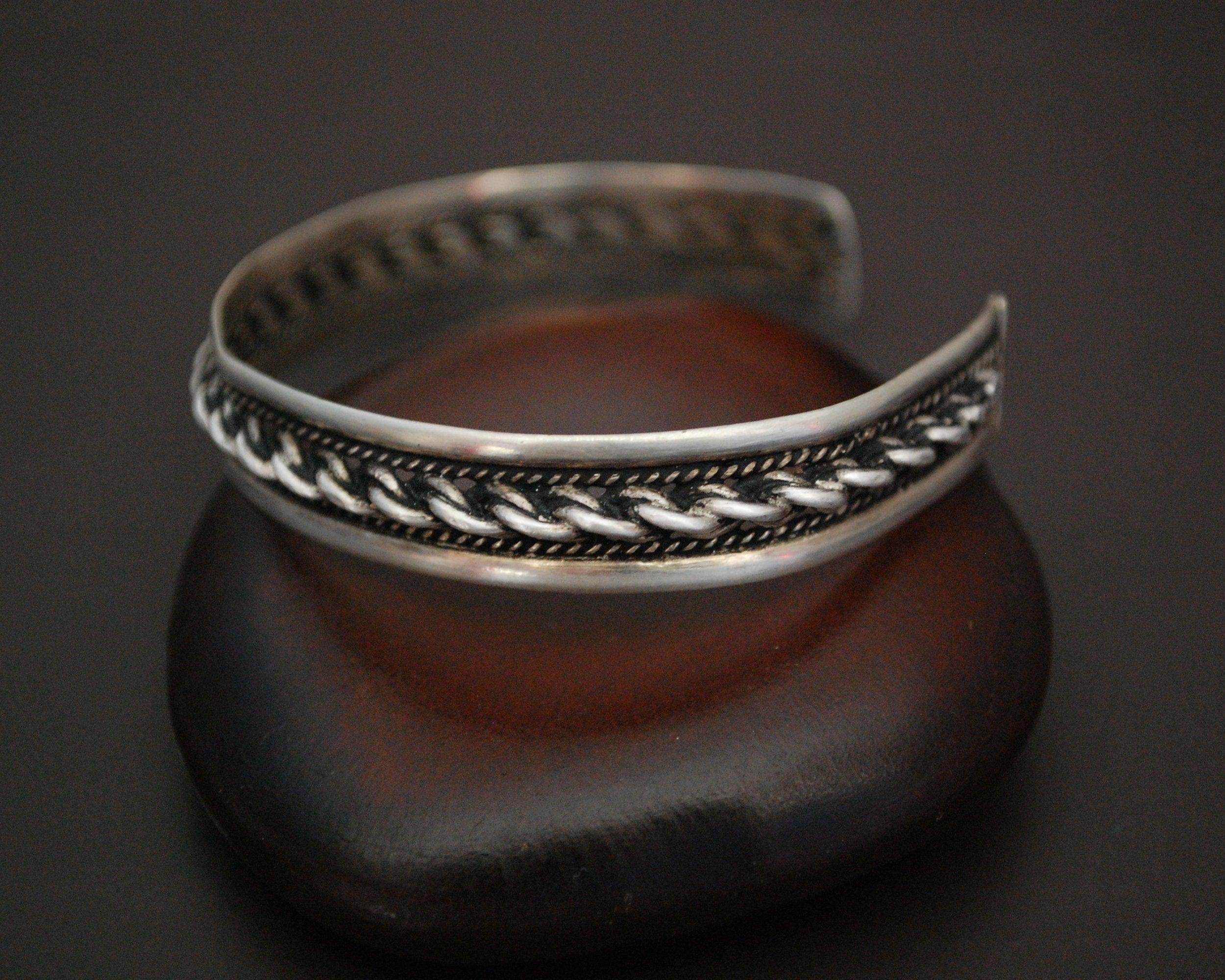 Small Twisted Rope Cuff Bracelet