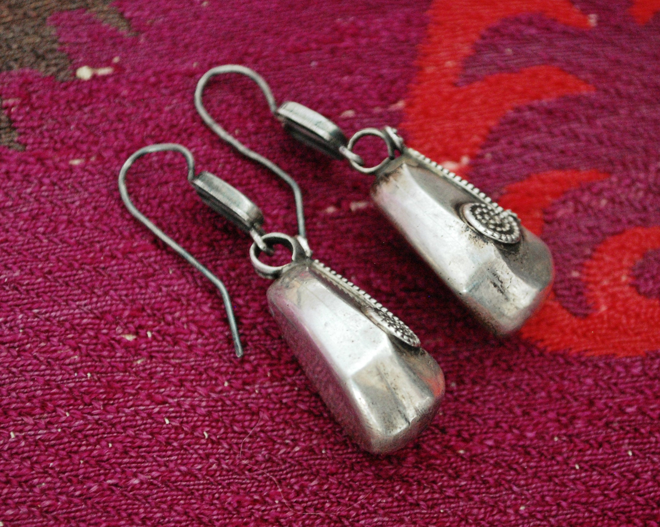 Indian Sterling Silver Dangle Earrings