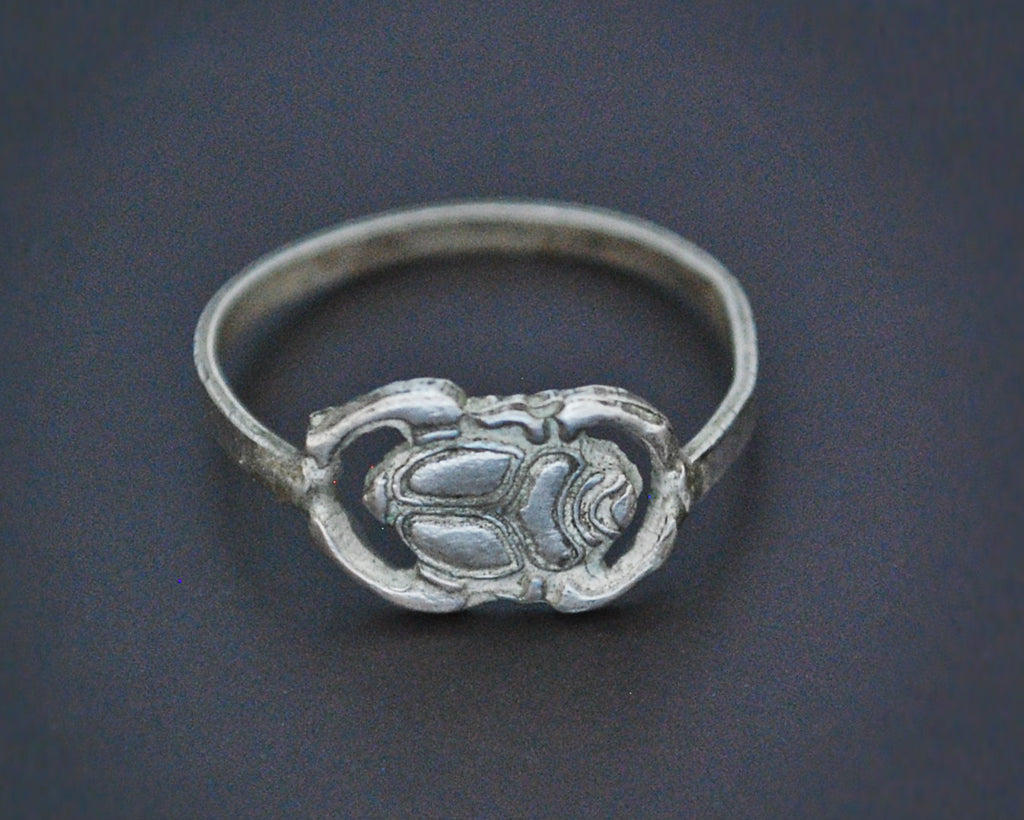Dainty Scarab Ring from Egypt - Size 8