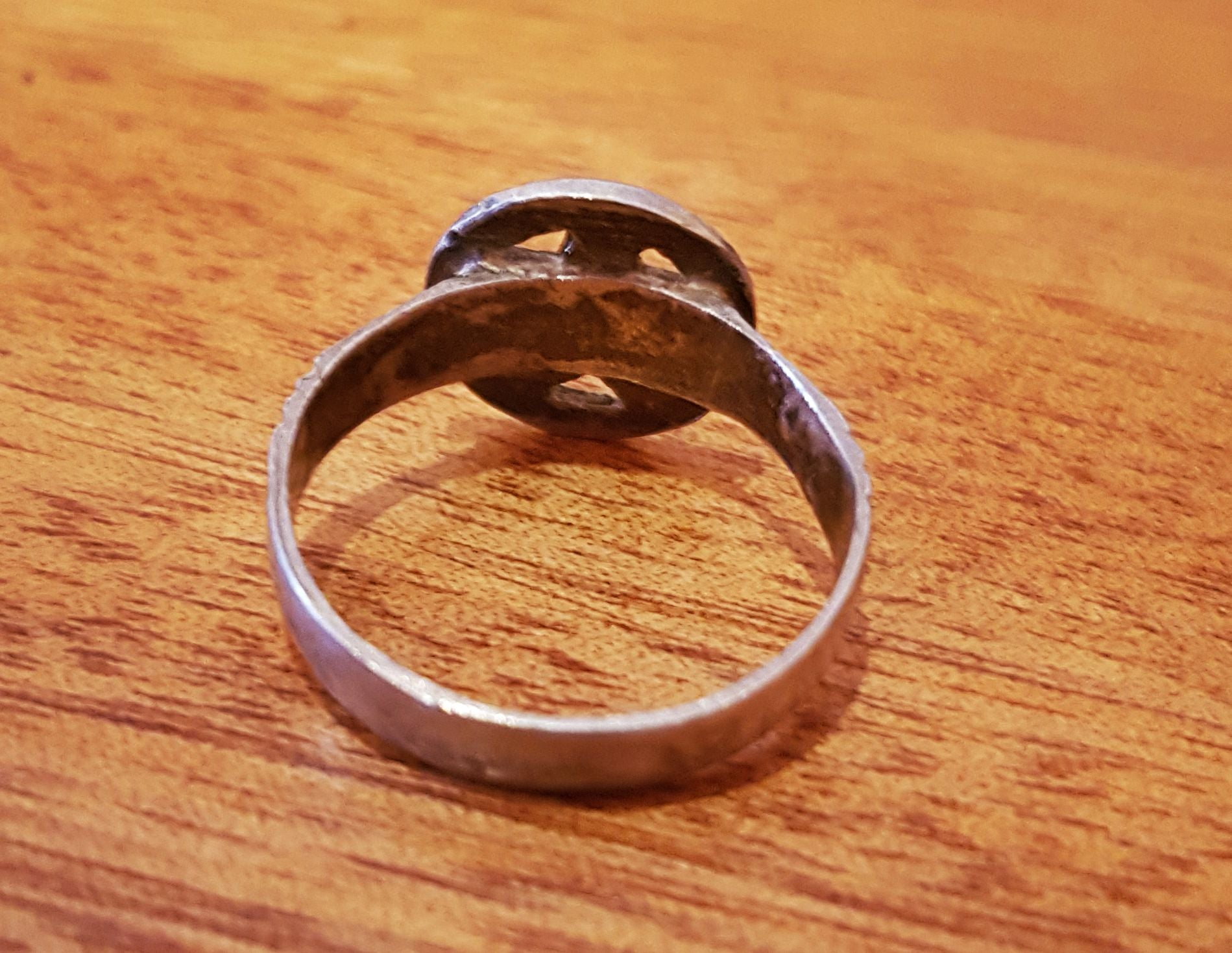 Old Berber Silver Star Ring - Size 9.5