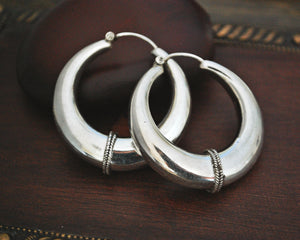Ethnic Hoop Earrings - LARGE