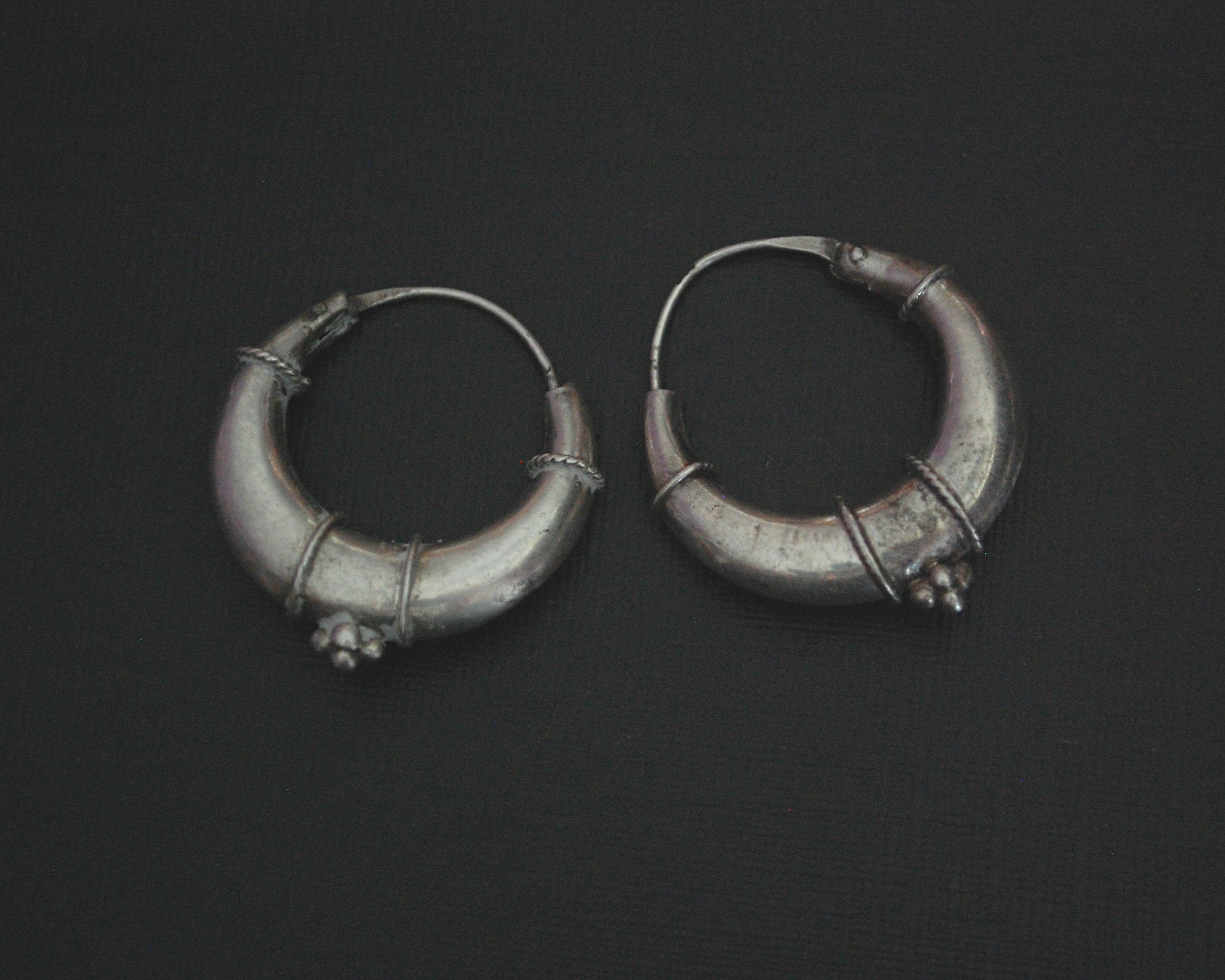 Ethnic Onyx Hoop Earrings SMALL / MEDIUM