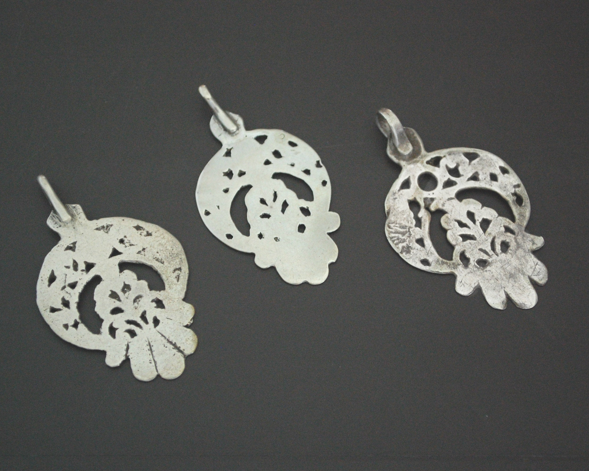 Set of Tunisian Old Silver Pendants