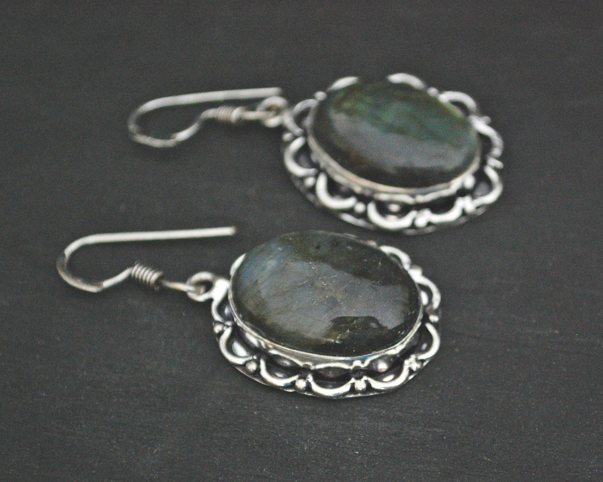 Ethnic Labradorite Earrings