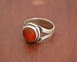 Antique Afghani Carnelian Ring - Size 7.5