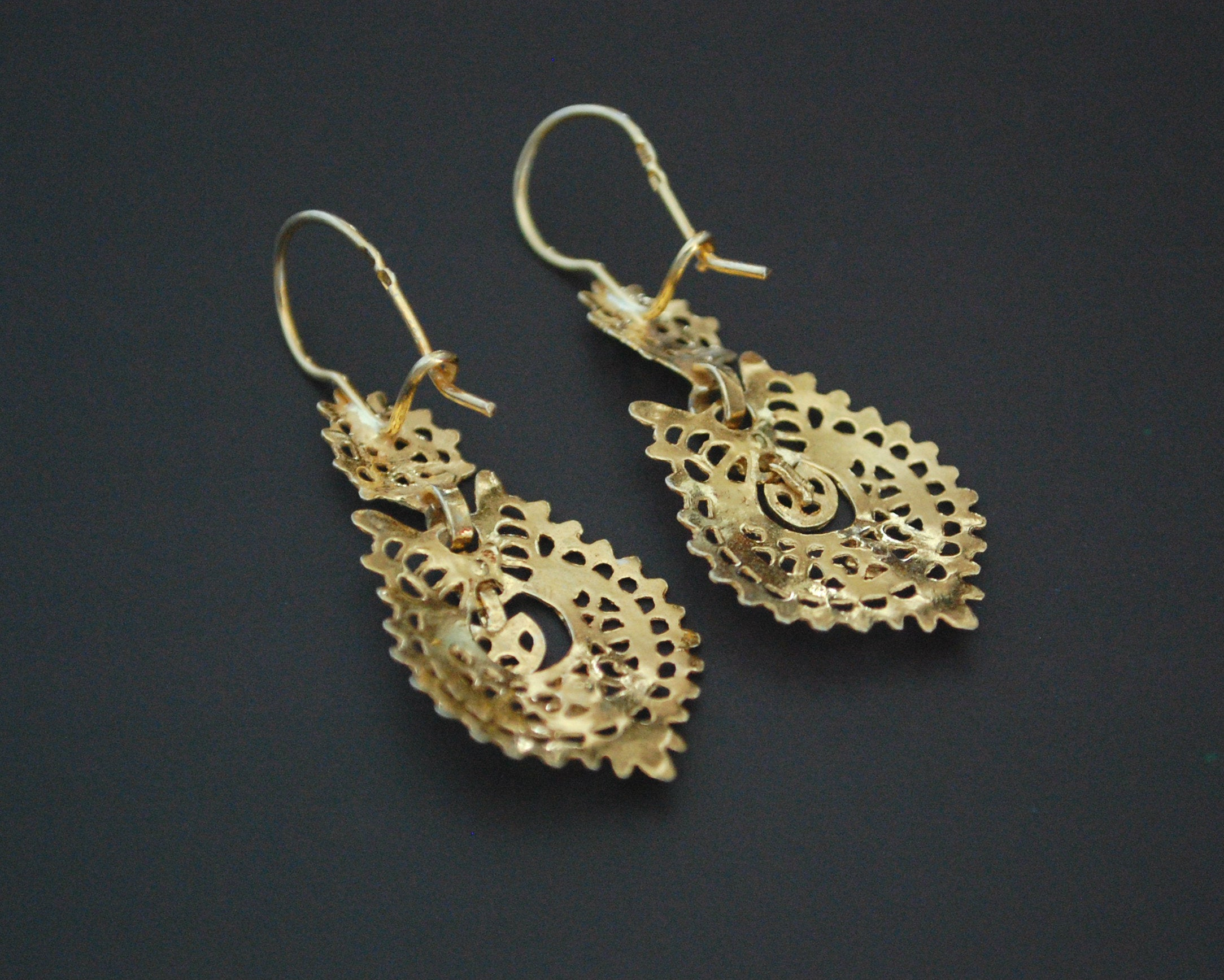 Gilded Ethnic Earrings from Portugal