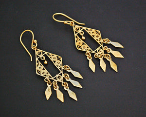 Ethnic Gilded Earrings from India