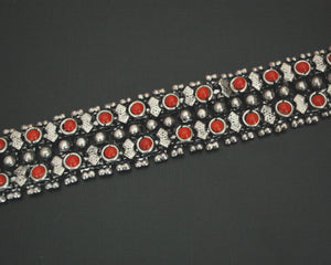 Rajasthani Silver Bracelet with Coral