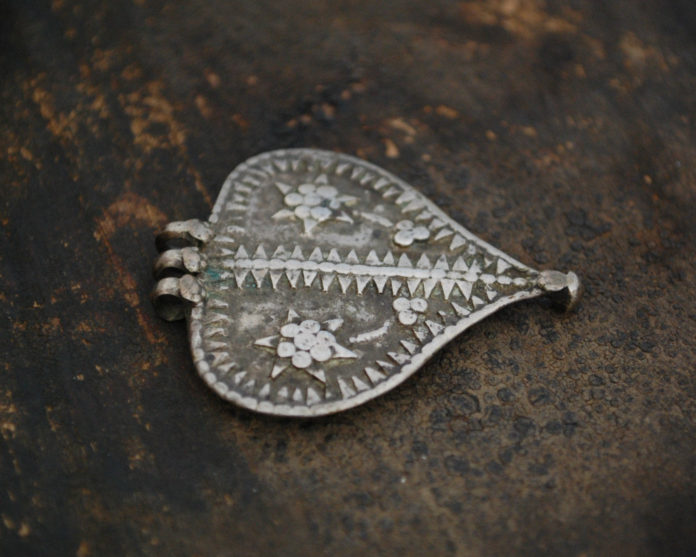 Old Rajasthani Silver Pendant