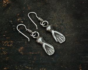 Old Berber Hamsa Earrings
