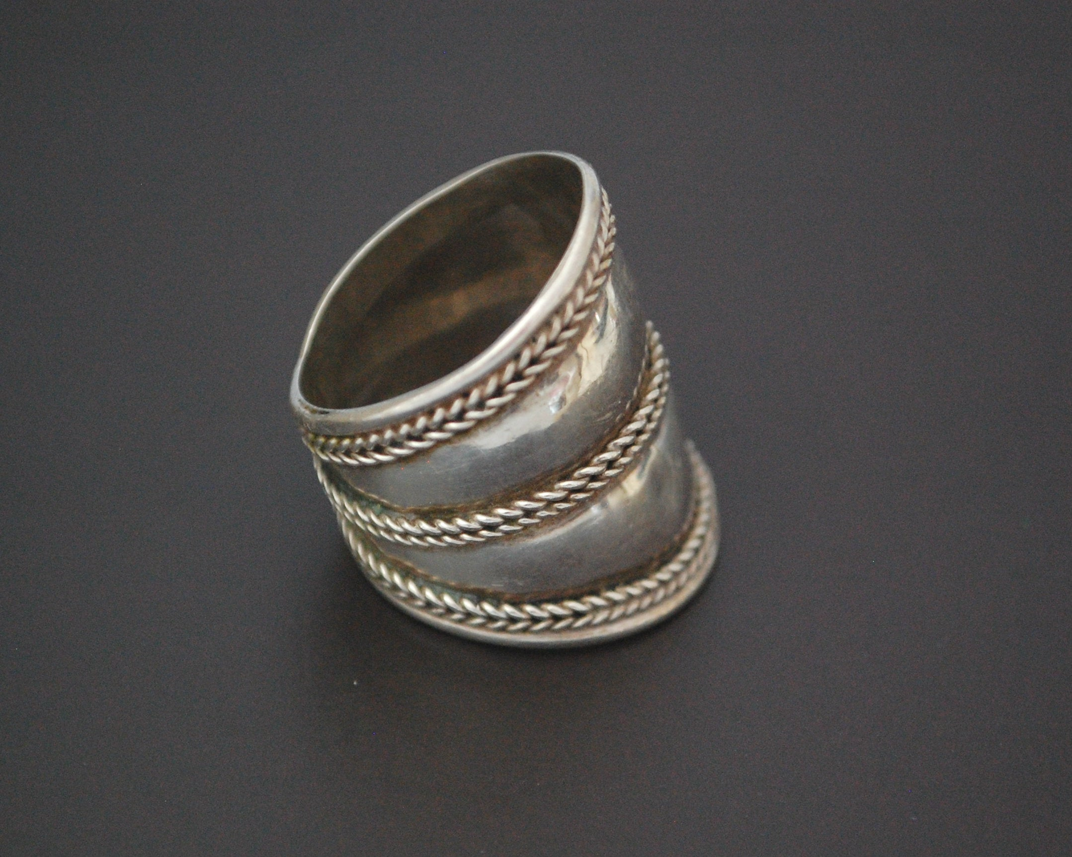 Ethnic Cigar Band Ring - Size 8