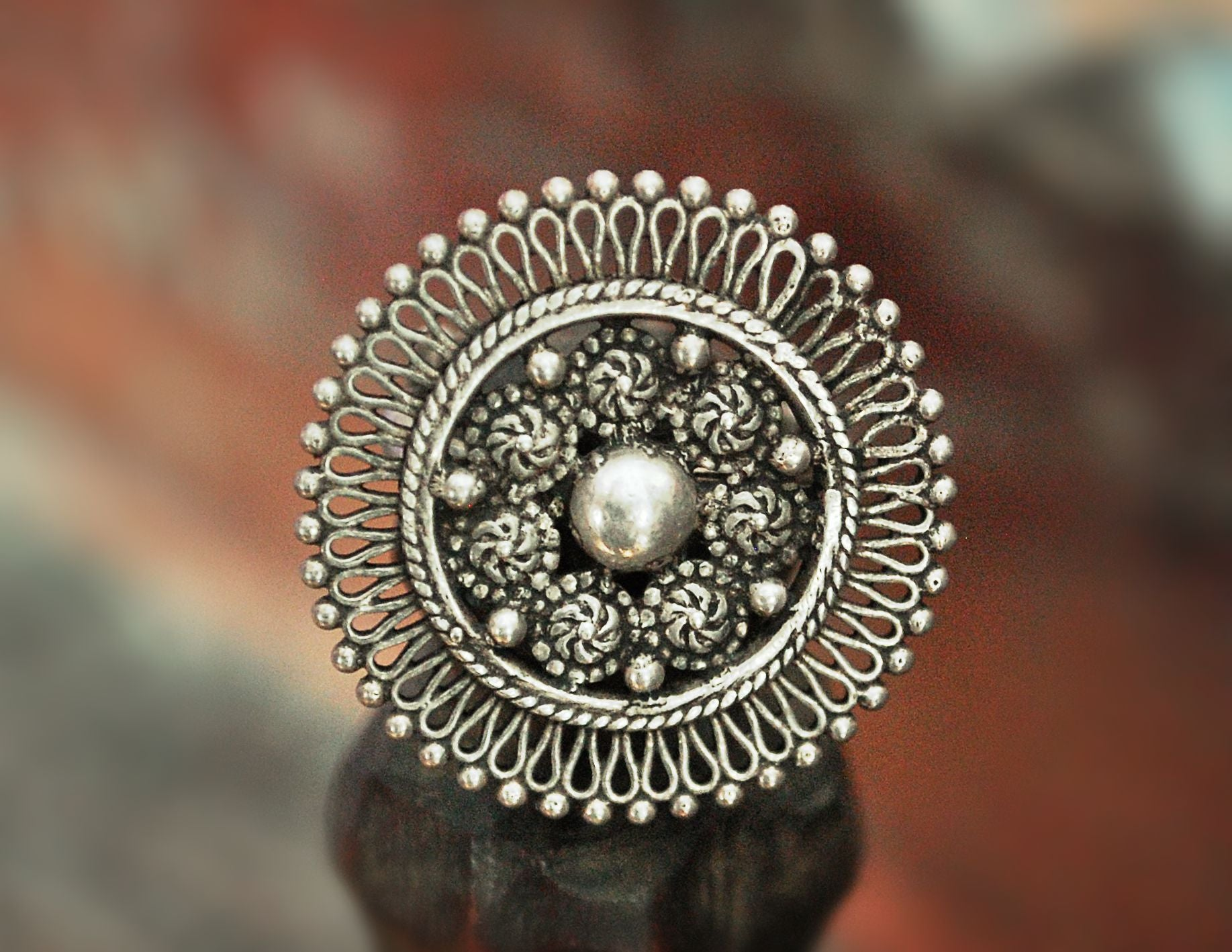 Indian Mandala Ring - Size 10