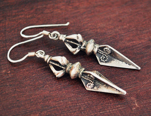 Tibetan or Nepalese Dorje Earrings