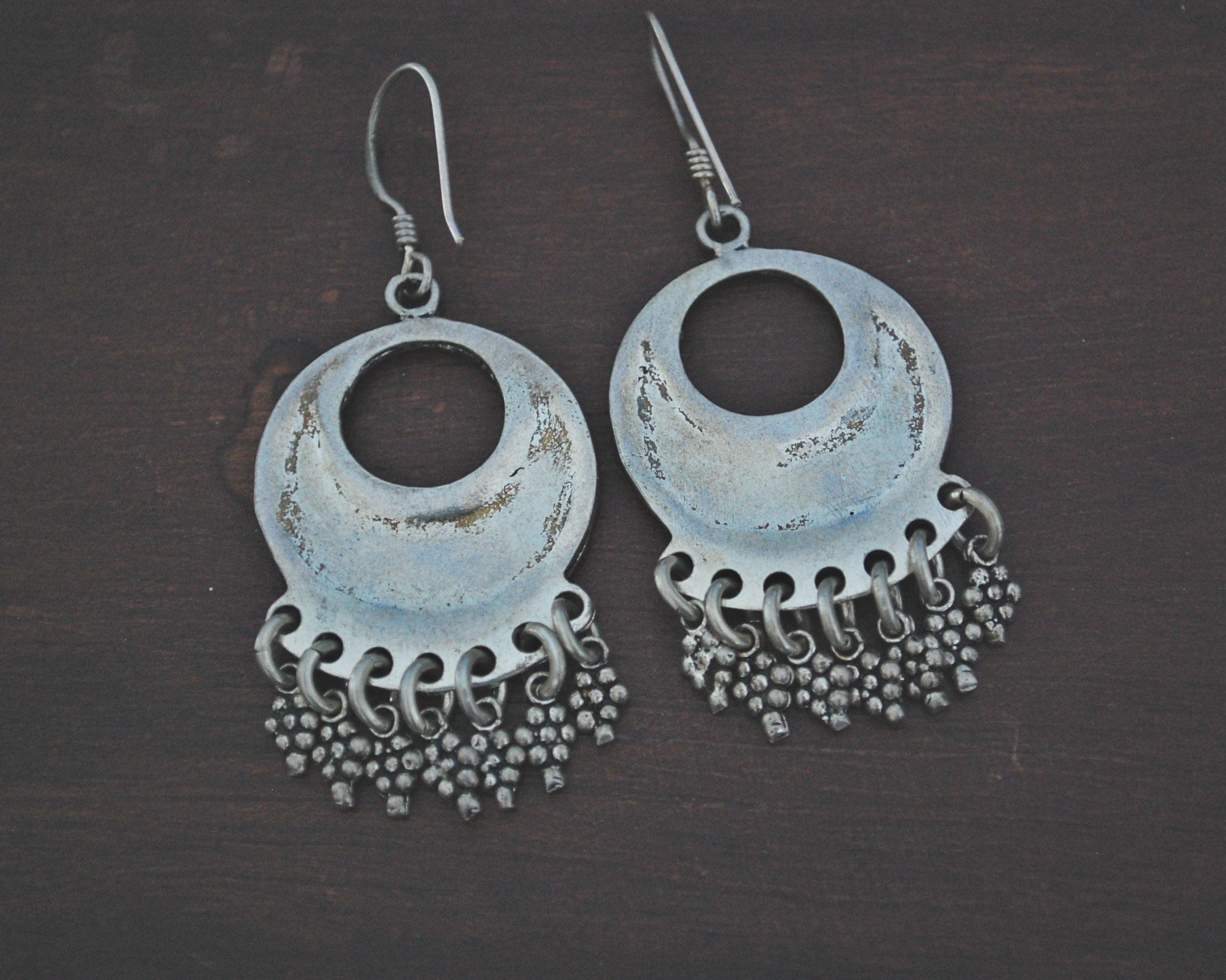 Vintage Indian Silver Earrings