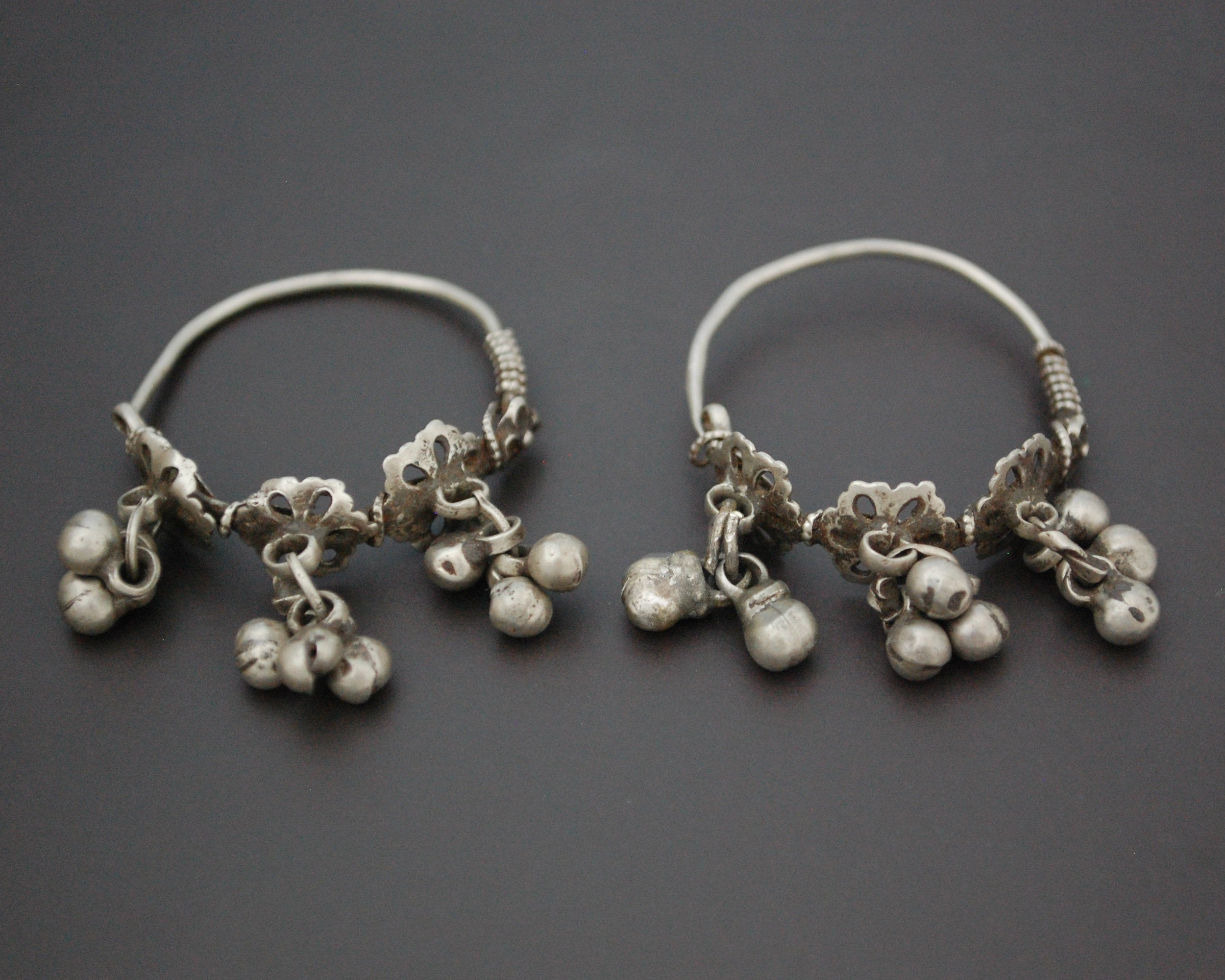 Rajasthani Hoop Earrings with Bells