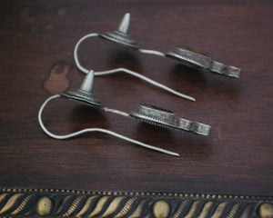 Old Gujarati Glass Spike Glass Earrings