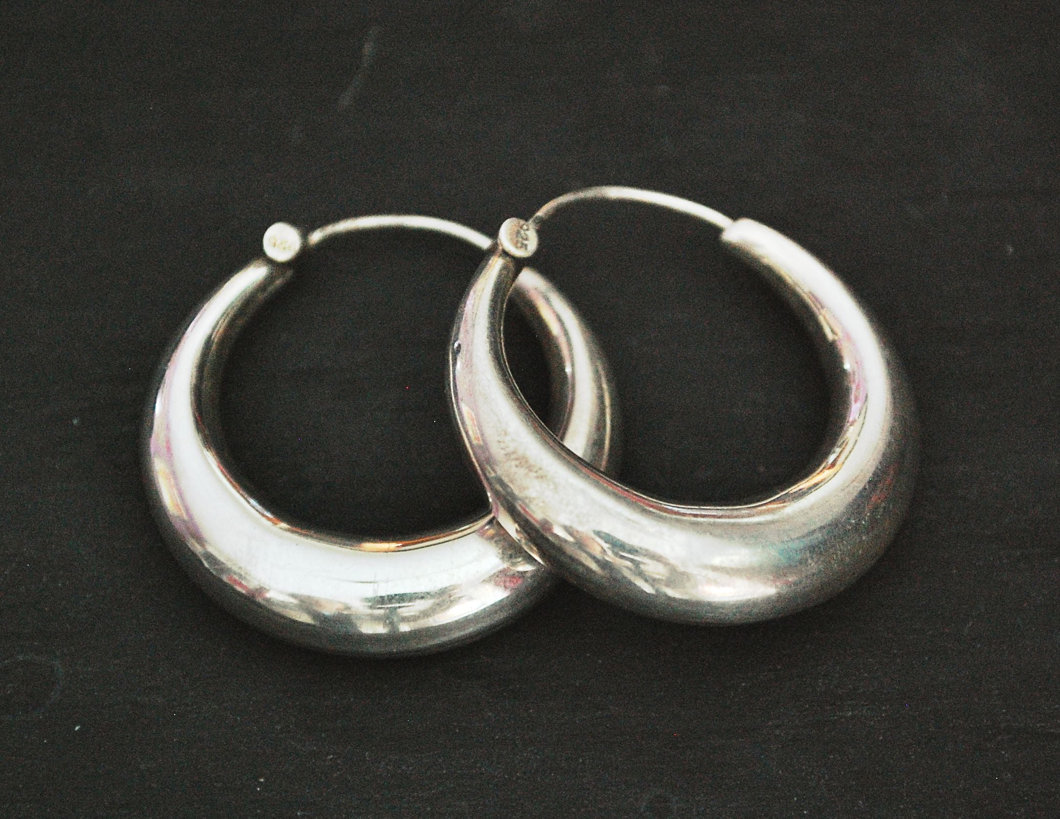 Sterling Silver Hoop Earrings - MEDIUM
