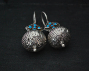 Antique Afghani Turquoise Earrings