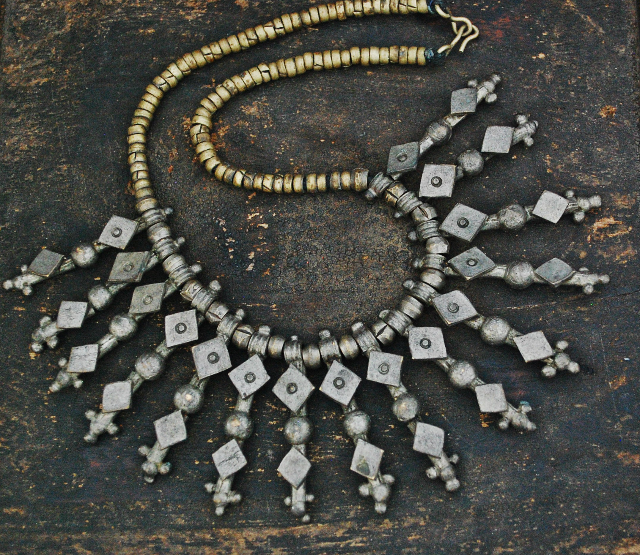 Rustic Ethiopian Brass Necklace