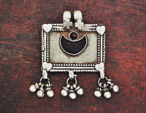 Rajasthani Moon Amulet with Bells